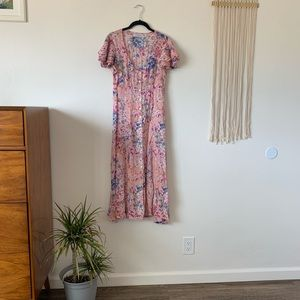 Pretty floral summer day dress